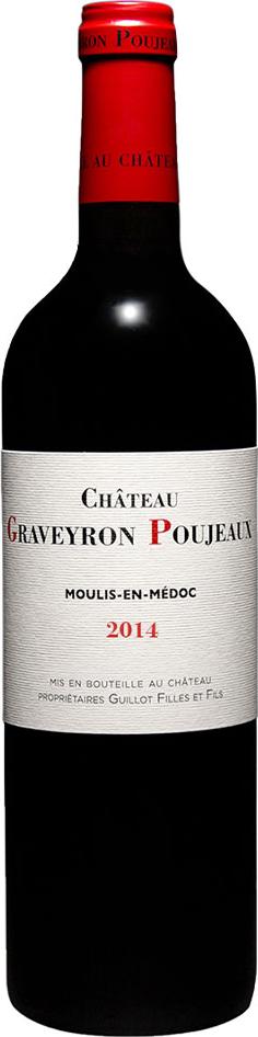 Vin du Médoc Appellation Moulis en Médoc Chtaeau Graveyron Poujeaux 2014